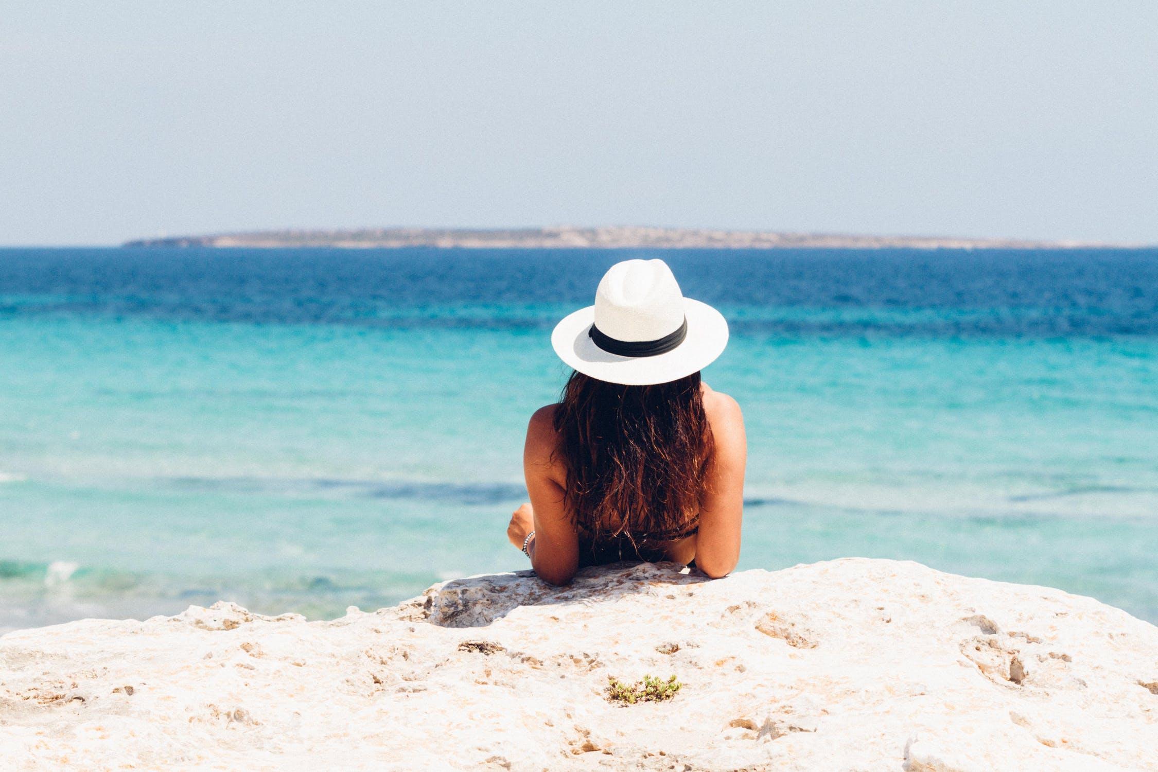 Celebrytka na plaży