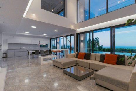 Living room. Nowa willa z widokiem w Andaluzji Hiszpania